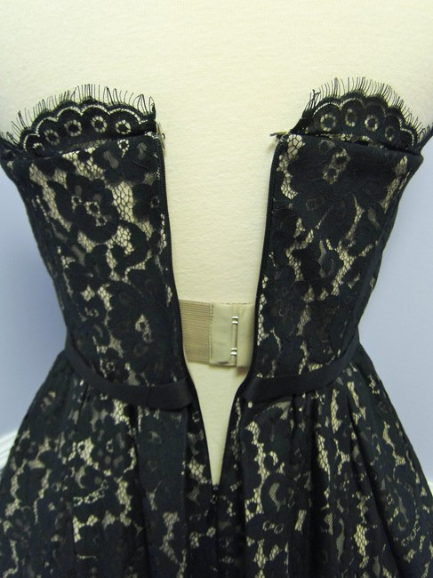 Robert Rodriguez Classic Lace Party Ribbon Bow Dress