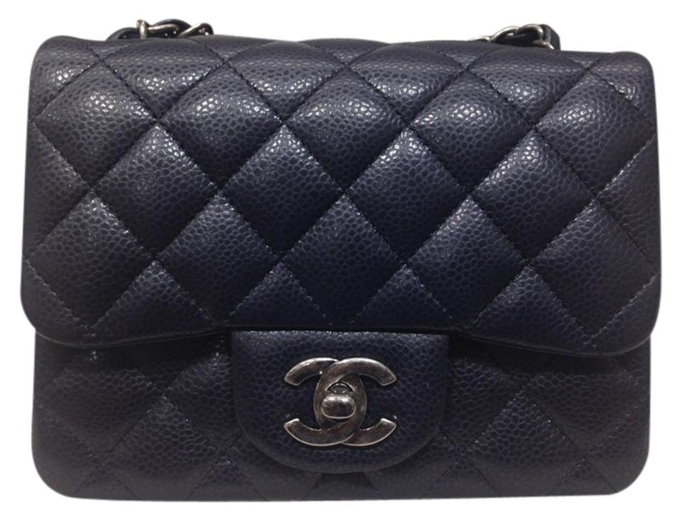 4a4f1d22c2251e Chanel Mini Square Shw Price Reduced Navy Caviar Leather Shoulder ...