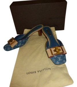 Louis Vuitton DENIM MONOGRAM CANVAS Mules