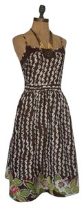 Anthropologie short dress MULTI COLOR Tea Wood Detail Crochet Detail Flare Hazel on Tradesy