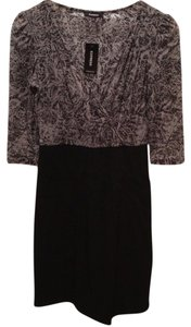 Express short dress Multi (Black & Gray) Work Office Gray on Tradesy