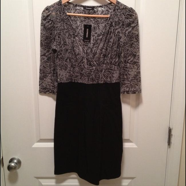Express short dress Multi (Black & Gray) Work Office Cocktail on Tradesy