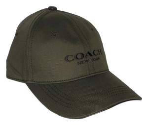 Coach Coach Logo Embroidered Olive Green Men's Women's Adjustable Baseball Cap Hat, OS 86005 ($78)