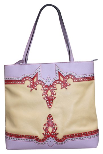 Matisse Studded Tote in Tan Multi