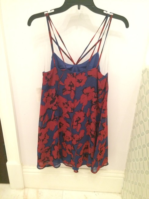 dee elle short dress Blue and Red on Tradesy