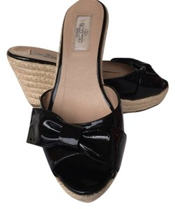 Valentino Wedge Black Wedges