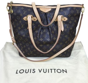 Louis Vuitton Crossbody Palermo Gm Tote in Monogram Brown