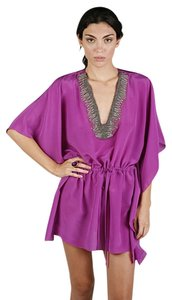 Karina Grimaldi short dress Purple Kaftan Trim Tunic Tunic Beading on Tradesy
