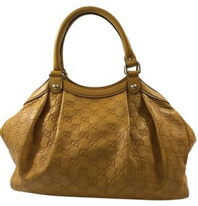 Gucci Monogram Tote in Mustard Yellow