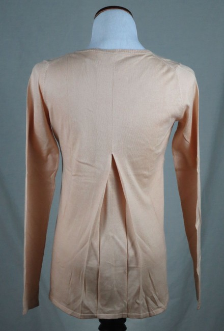 Victoria's Secret 80% Silk/20% Cotton Very Fine Knit Deep V Neck Empire Waist Inverted Pleats Sweater