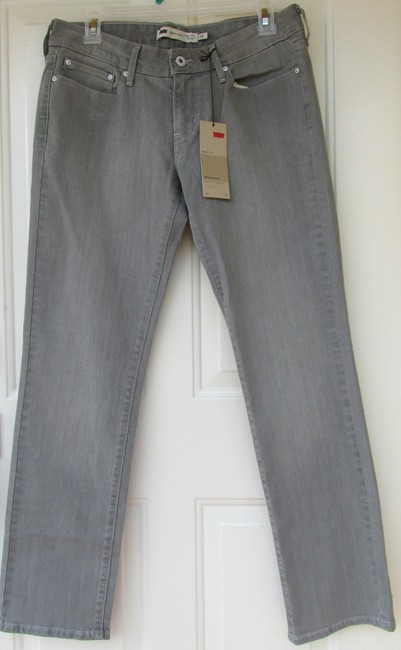Levi's Curve Modern Rise New With Tags Straight Leg Jeans-Medium Wash