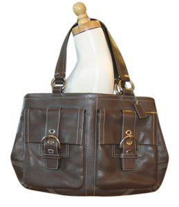 Coach Leather Tote Shoulder Bag