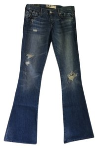 Abercrombie & Fitch Long Boot Cut Jeans-Distressed