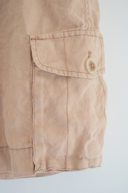 Ann Taylor LOFT Casual Linen Summer Short Neutral Mini Skirt Beige/Blush Neutral