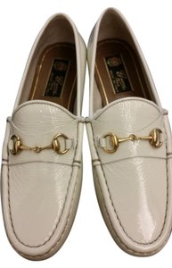 Gucci Classic Horsebit Loafers Leather White Mystic White Flats