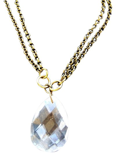 Preload https://item3.tradesy.com/images/gold-and-crystal-sparkling-teardrop-necklace-5509882-0-4.jpg?width=440&height=440