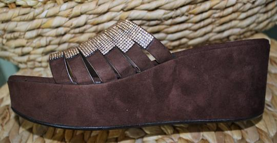 To Be Brown Suede / Sparkly Champagne Platforms