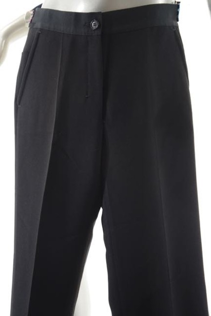 Prada Narrow Grograin Skinny Pants Black