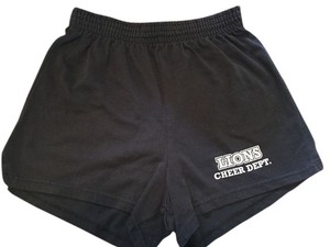 Soffe Lions Lion Cheer Cheerleading Black and White stripe Shorts