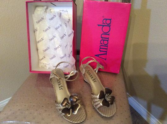 Amanda Dress Sandals Dress Sandals Dress Sandals Champagne and bronze Wedges