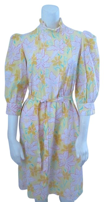 Preload https://item4.tradesy.com/images/lilly-pulitzer-vintage-floral-rare-dress-yellow-5510383-0-0.jpg?width=400&height=650