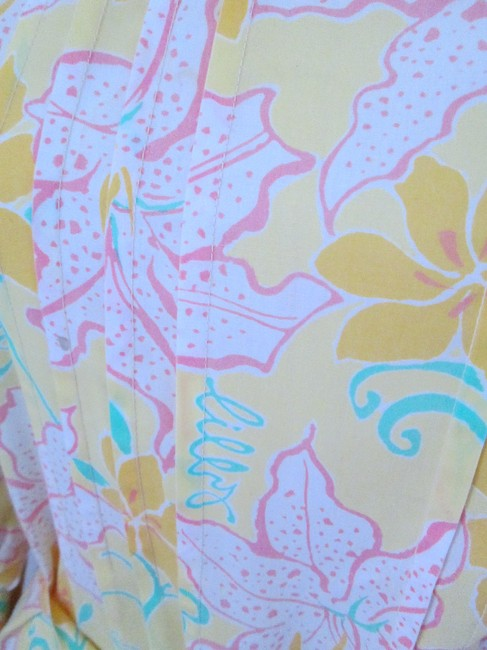 Lilly Pulitzer short dress Yellow Vintage Floral Rare on Tradesy
