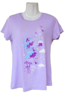 Route 66 Nature Cotton Cute T Shirt lavender, teal, purple, white, yellow
