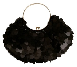 Other Black Sequin and Beaded Clutch