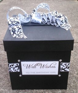 Black Custom Wedding Card Box