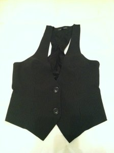 Express Top Black Pin Stripe