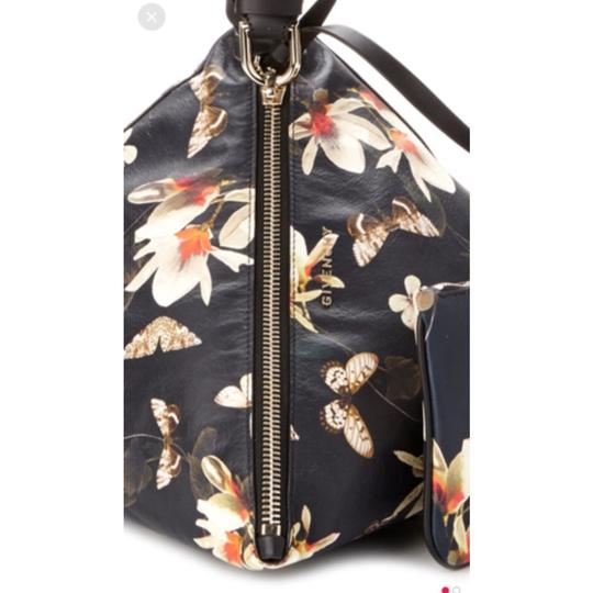 Givenchy Pyramid Ballerina Magnolia Pattern Tote in Black