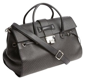 Jimmy Choo Rosalie Satchel in Black Studded Leather