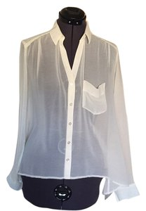 Silence + Noise Top White blouse