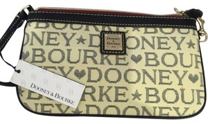 Dooney & Bourke Wristlet in Beige/Black