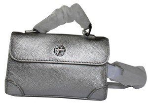 Tory Burch $225 Tory Burch Robinson Metallic Saffiano Leather Waist Pack Belt Mini Bag Size Small S