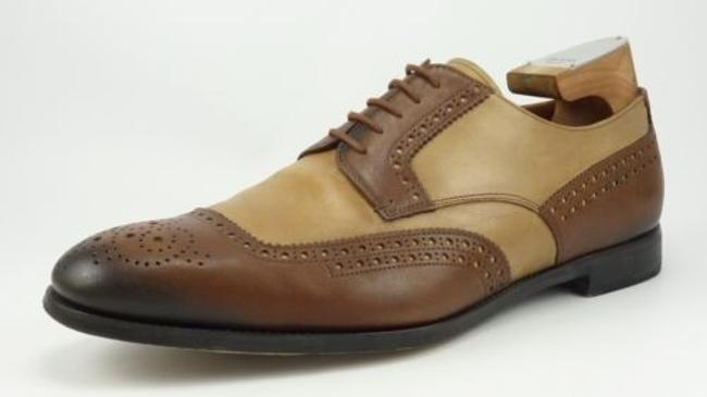 Item - Leather Two Tone Brogue Toe Oxfords 2ef020 Mens Brown Fits