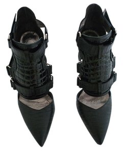 Jeffrey Campbell Black Lizard Combo Pumps