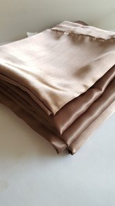 Four Latte Brown Satin Overlays 72