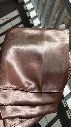 """Brown Four Latte Satin Overlays 72"""" Squares Tablecloth"""
