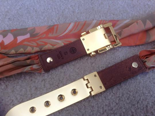 Tory Burch Tory Burch Leather and Fabric Belt
