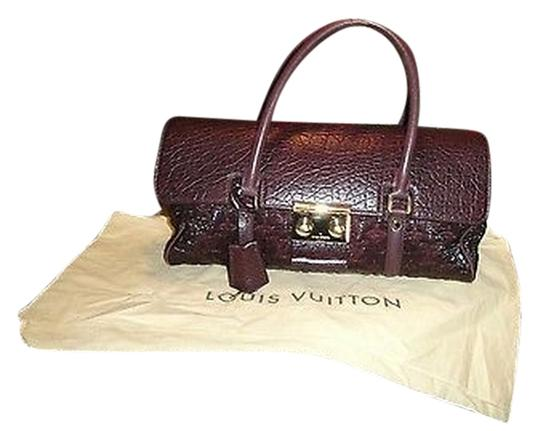 Louis Vuitton Limited Bordeaux Volupte Beaute Satchel in Red