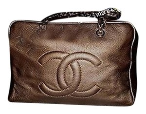 Chanel Luxury Ligne Dark Tote Excellent Shoulder Bag