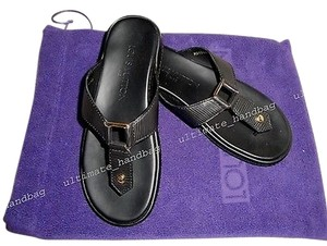 Louis Vuitton Black Epi Blacks Sandals