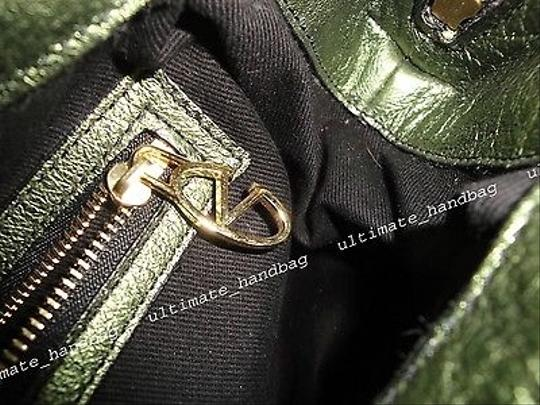 Valentino Rosette Pythonleather Satchel in Greens