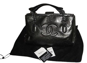 Chanel Calfskin Tote Excellent Discontinued Model Shoulder Bag
