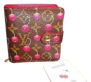 Louis Vuitton Louis Vuitton Cerises Zipped Compact Wallet