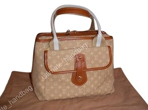 Louis Vuitton Mini Lin Sac Satchel in Beige