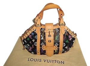 Louis Vuitton Le Black Theda Gm Excellent Satchel in Multi-Color
