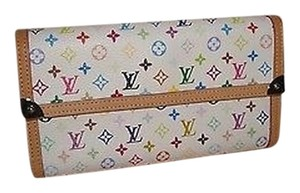 Louis Vuitton Louis Vuitton White Multicolor Pti Wallet Discontinued Excellent