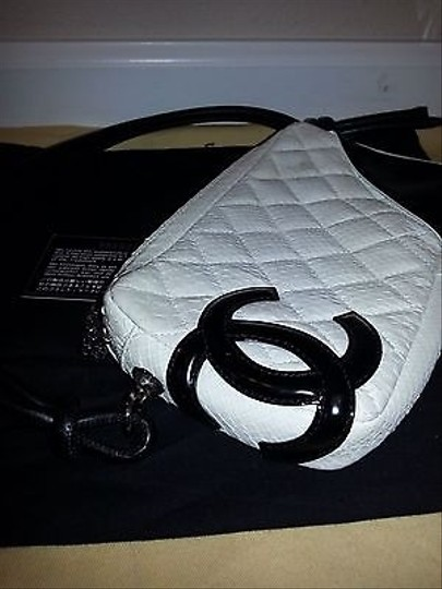 Chanel Cambon Snakeskin Pochette Mint Condition Shoulder Bag